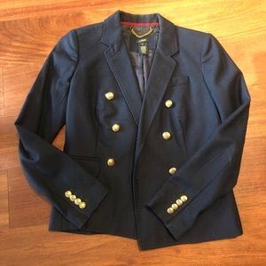 Navy J. Crew blazer with gold buttons